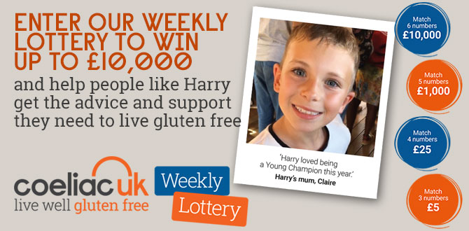 Coeliac UK lottery