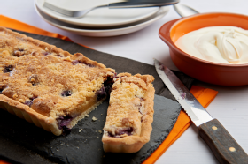 Gluten free blueberry and almond tart