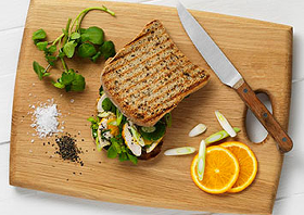 Chicken, Watercress & Orange Sandwiches