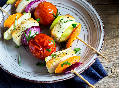 Home of Gluten Free Vegetable and Marinated Halloumi Kebabs