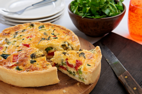 Quiche with Gluten Free Short Crust Pastry