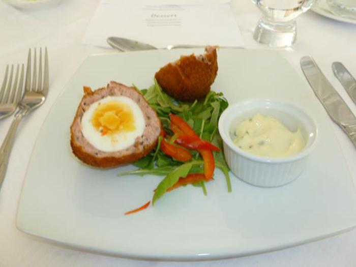 Forth Valley Group - Scotch egg with a fresh rocket salad
