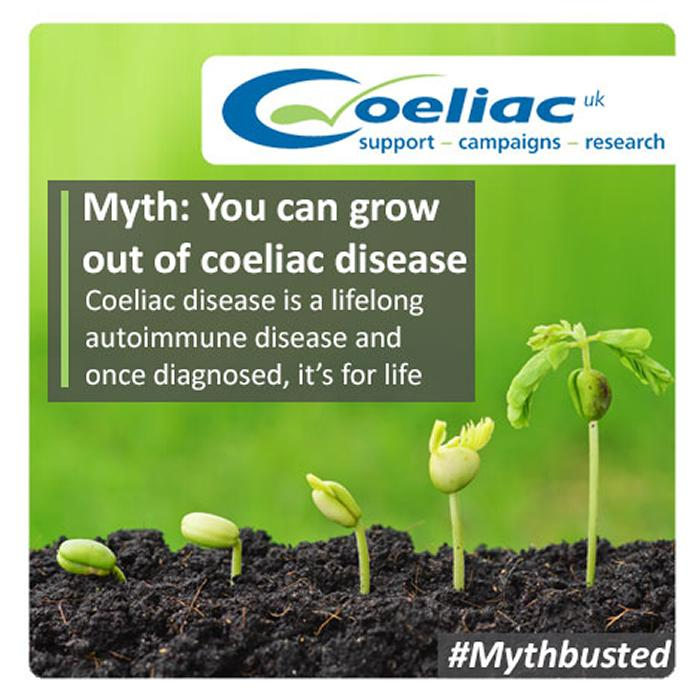 Myth: you can grow out of coeliac disease