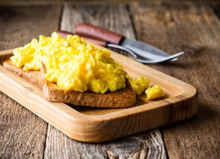 Scrambled Eggs on GF Toast - Budget Meal Plan