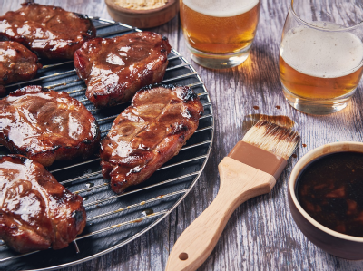 Pork Steaks with Asian BBQ Sauce