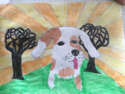 Martha, 11 art competition entry