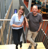 Groningen researchers Iris Jonkers and Sebo withoff