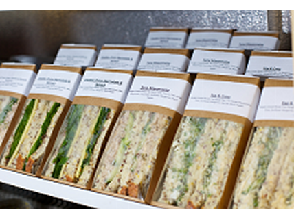 Pre packed sandwiches