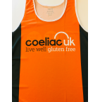 Unisex orange running vest (Extra-Small)